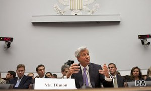 Jamie Dimon Capitol Hill testimony seems to stall JP Morgan recovery