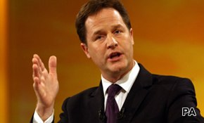Clegg least popular since Foot