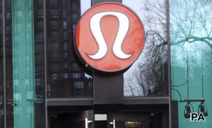 Lululemon in downward dog