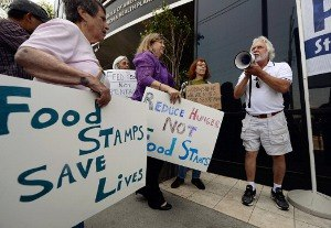 Major partisan divide on food stamps