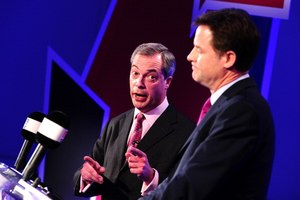 Poll: Farage tops Clegg in first EU debate