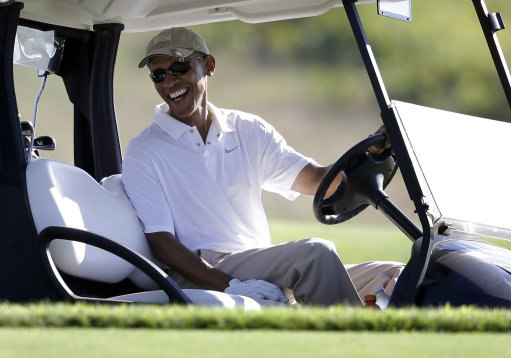 Public: it's unfair to criticize a president for playing golf
