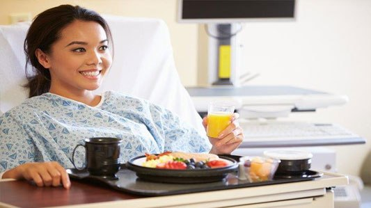 Almost half of patients and visitors think hospital food is improving