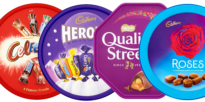 Image result for roses quality street heroes celebrations