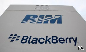 BlackBerry suffers more than RIM
