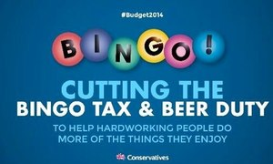 Tory Bingo poster goes down badly
